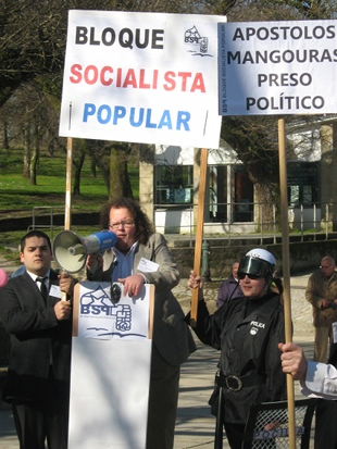 "Escenificouse un mitin do ""Bloque Socialista Popular"""