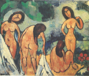 "Vlaminck. ""As bañistas"", 1907-1908"