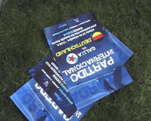 Cartaz do partido internacional