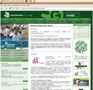 Web do Voluntariado